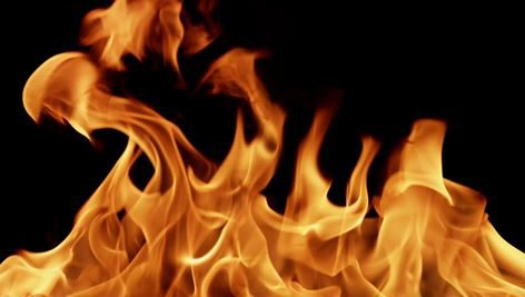 فوتیج رایگان شعله آتش