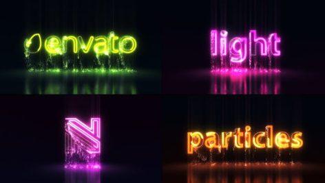 پروژه افتر افکت معرفی لوگو Light Particles