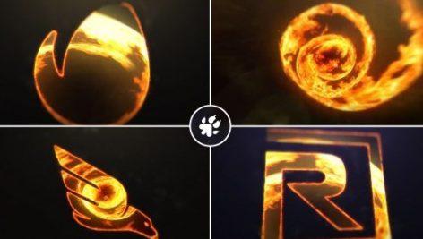پروژه آماده لوگو Fire Vortex